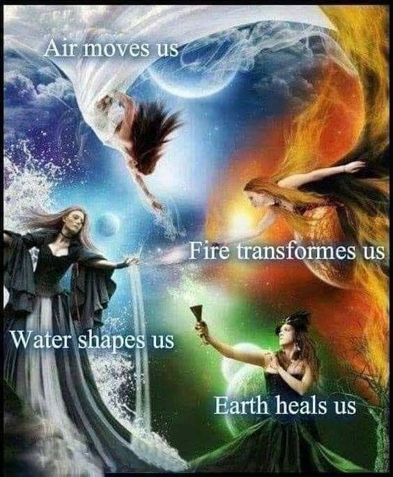 We are created from the elements and to them we will return